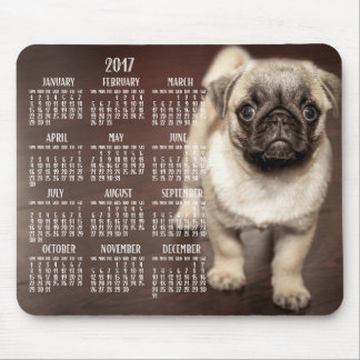 Dog Calendar 2017 Mouse Pad Cute Puppy
