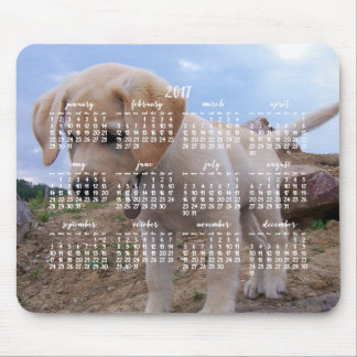 Dog Calendar 2017 Personalized Mouse Pad