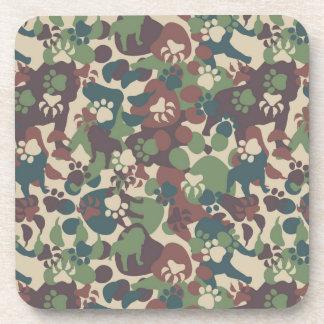 Dog Camouflage Pattern Beverage Coaster