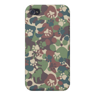 Dog Camouflage Pattern iPhone 4 Cases