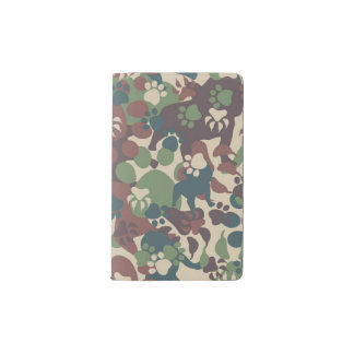 Dog Camouflage Pattern Pocket Moleskine Notebook