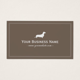 Dog Care Dachshund Hotdog Elegant Brown Business Card