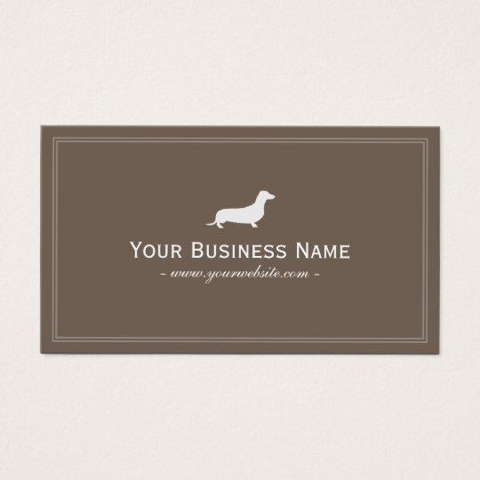 Dog Care Dachshund Hotdog Elegant Brown Business Card