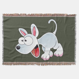 dog cartoon yappy throw blanket