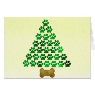 Dog / Cat Christmas Tree Card
