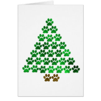 Dog / Cat Christmas Tree Card
