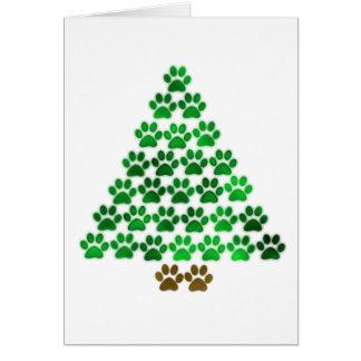 Dog / Cat Christmas Tree Greeting Card