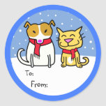 Dog & Cat Gift Tags Sticker