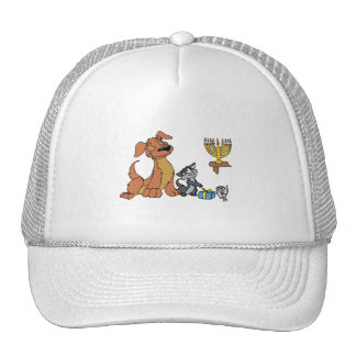 Dog cat mouse hats