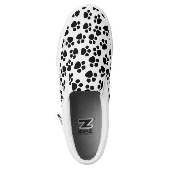 Dog/Cat Paw Print Pattern Slip On Sneaker
