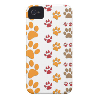 Dog & Cat Paw prints Design ~ editable background iPhone 4 Cover