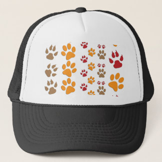 Dog & Cat Paw prints Design ~ editable background Trucker Hat
