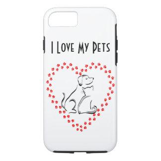 Dog & Cat Pawprint Hear iPhone Case