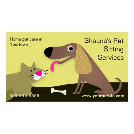 Dog & Cat Pet Sitting Services Double Sided Standard