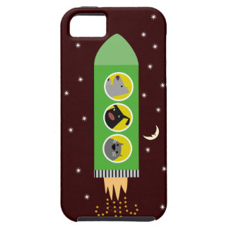 Dog & Cat Rocketship iPhone 5 Covers
