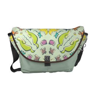 Dog cat sparrow Colourful cute symmetry Commuter Bag