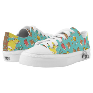 Dog cat sparrow Colourful cute symmetry Printed Shoes