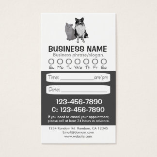 Dog cat veterinarian appointment cards
