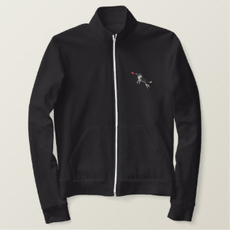 Dog Catching Disc Embroidered Jacket