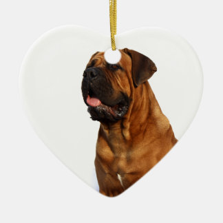 Dog Ceramic Heart Decoration