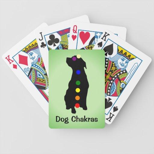 Dog Chakras playing cards