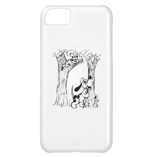 Dog Chasing Cat Up Tree iPhone 5C Case
