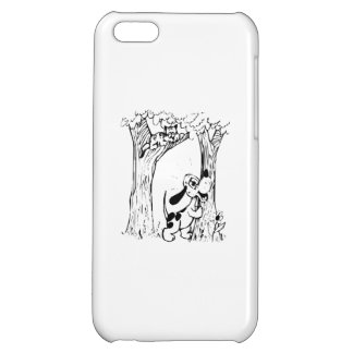 Dog Chasing Cat Up Tree Cover For iPhone 5C