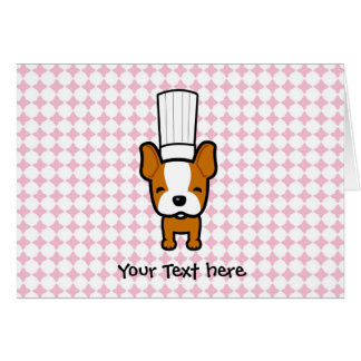 Dog Chef Art Personalized Greeting Card
