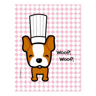 Dog Chef Art Personalized Post Card
