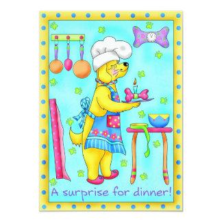"""Dog Chef Invitation 5"""" X 7"""" Invitation Card"""
