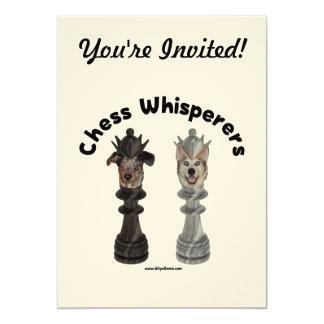 Dog Chess Whisperer 13 Cm X 18 Cm Invitation Card