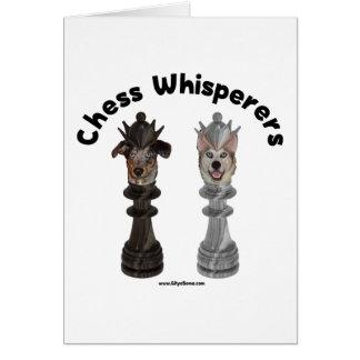 Dog Chess Whisperer Greeting Card