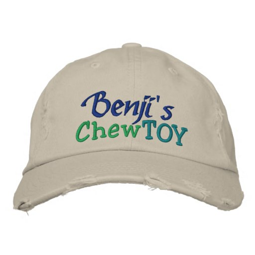 Dog Chew Toy Cap by SRF Embroidered Baseball Caps