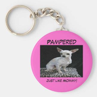 Dog Chihuahua Pampered Keychain