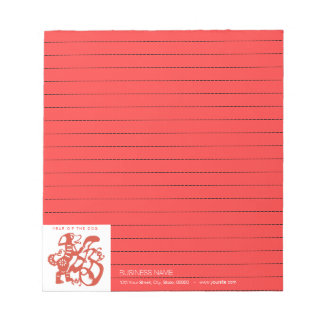 Dog Chinese Papercut corporate Lined Notepad