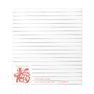 Dog Chinese Papercut corporate Lined Notepad 2