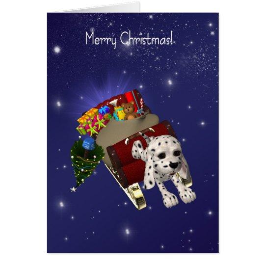 Dog Christmas Card, Merry Christmas, Dalmatian Card