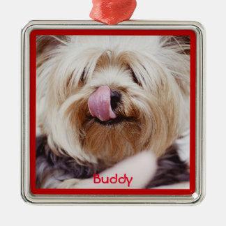 Dog Christmas Ornaments Metal Add Custom Photo