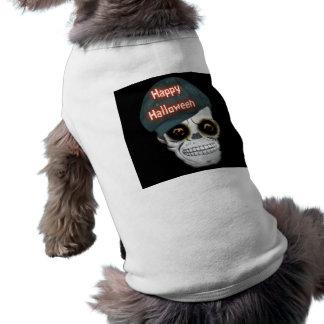 Dog Clothing Skeleton Head Happy Halloween