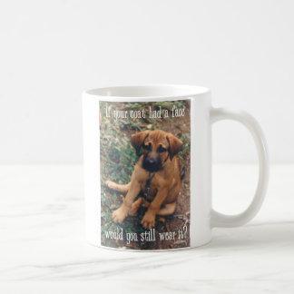 dog coat basic white mug