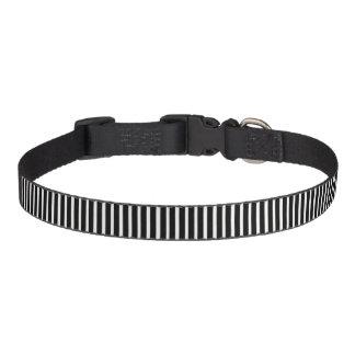 Dog Collar-Black And White Stripes Pet Collar