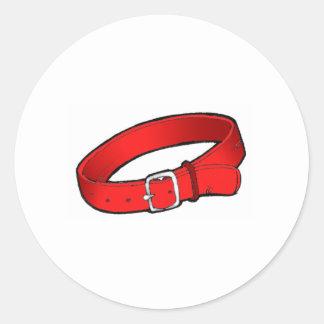 Dog Collar Round Sticker