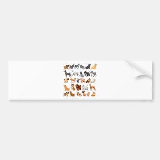 Dog collection bumper sticker