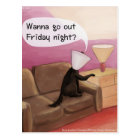 Dog Cone Dating Funny Cartoon Postcard