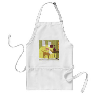 Dog Conehead Funny Adult Apron