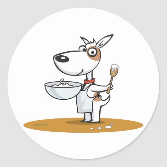 Dog Cook Classic Round Sticker