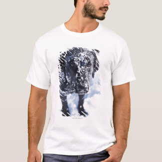 Dog covered in snow T-Shirt