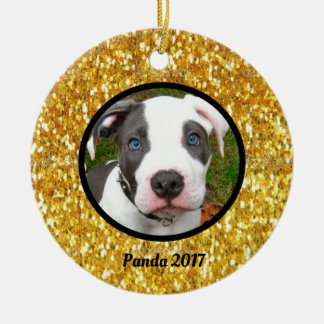 Dog Custom Christmas Ornament with Glitter