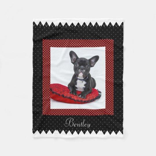 Dog Customisable Pet Photo Fleece Blanket