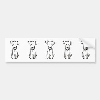Dog - cute fun line drawing art logo design simple bumper stickers